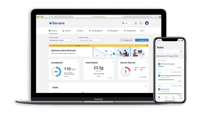 Sensire Cloud and Quality App