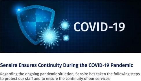 Sensire and COVID-19_press release